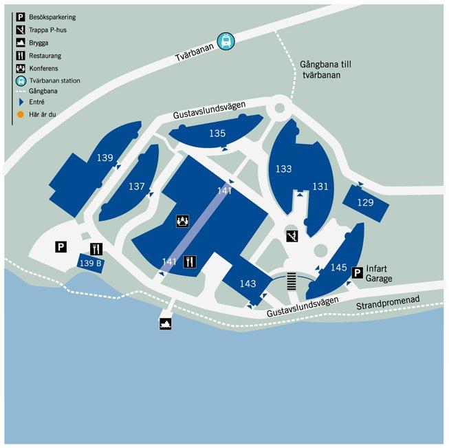 Alviks Strand karta