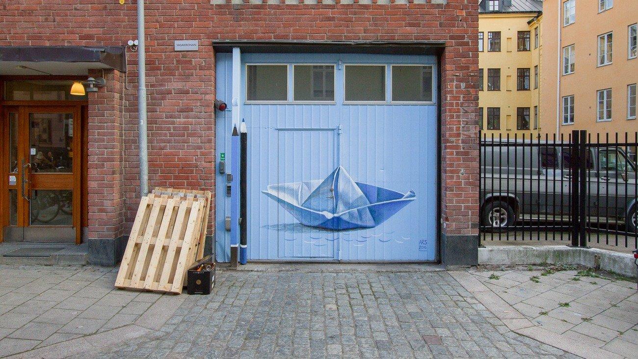 """Boat on Fyrisån"" Olga Palchevskaya Smedsgränd 3"