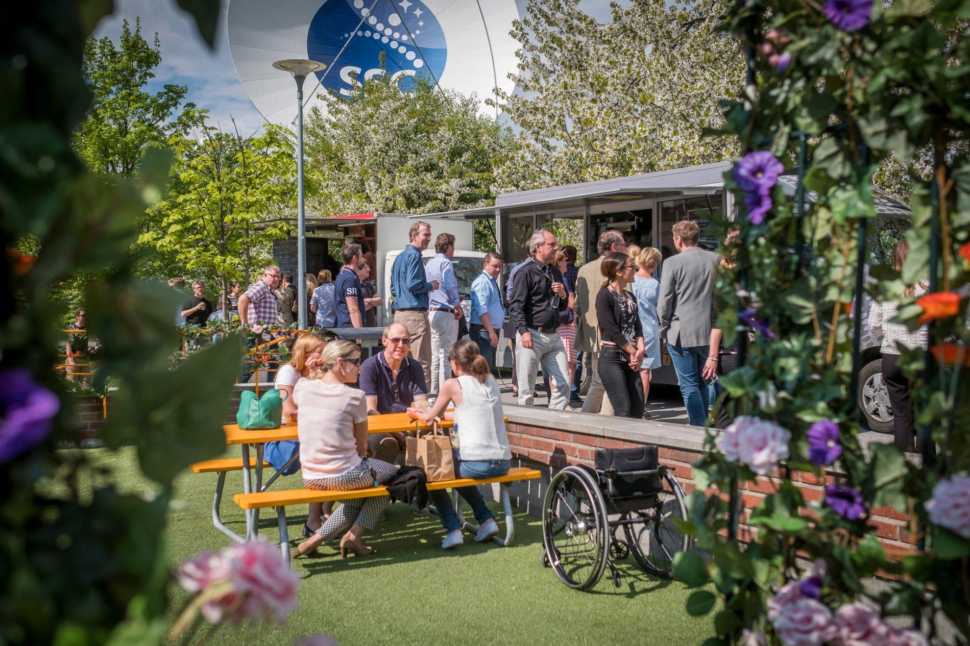 Food park i Solna strand, sommaren 2016