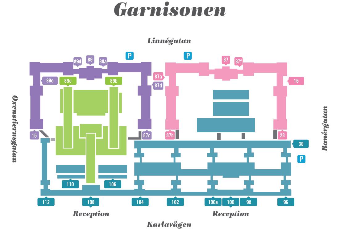 Garnisonen områdeskarta