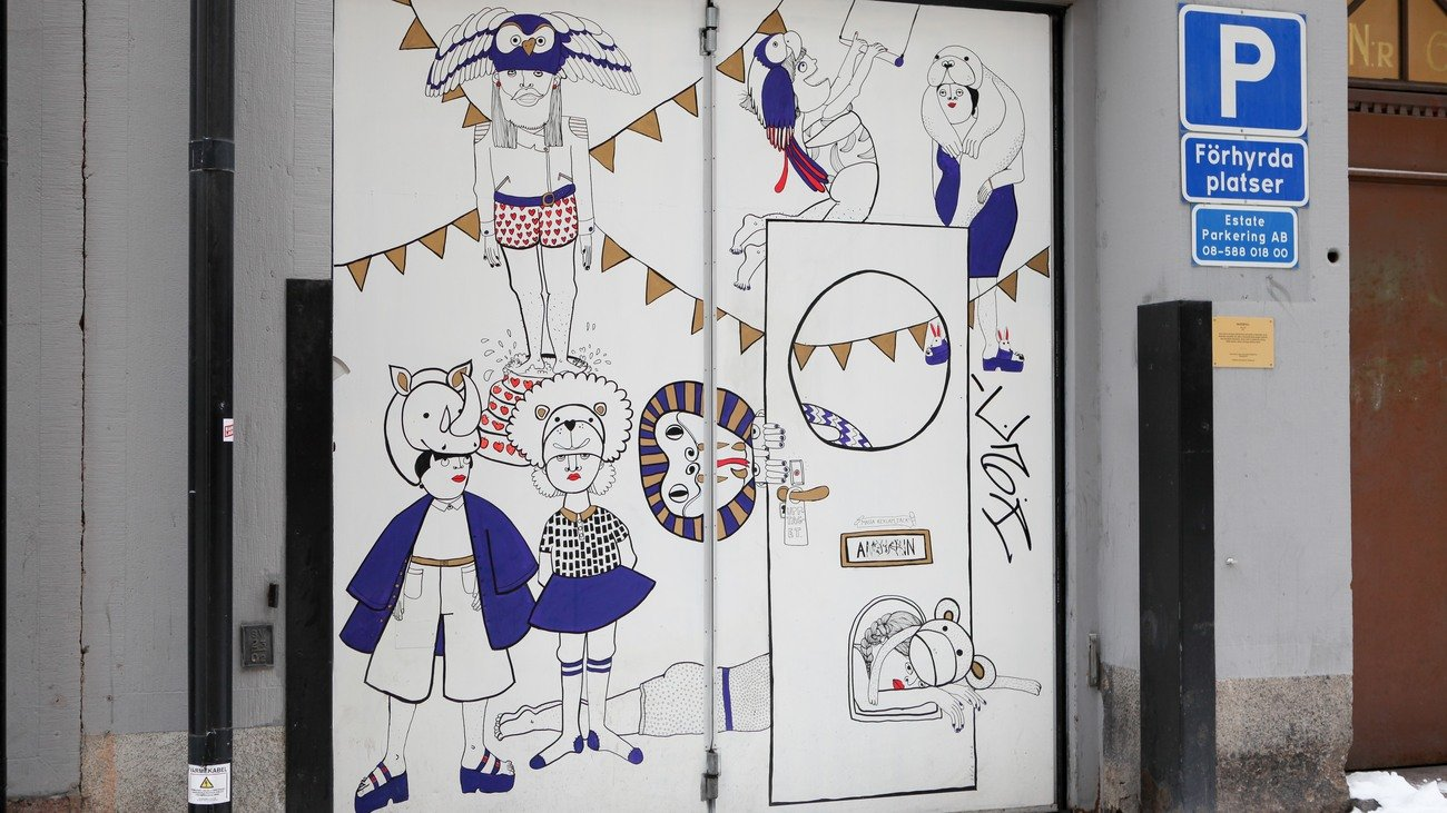 """Vaeduvill"" av Amy Lönn. Olofsgatan 6"