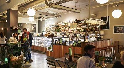 Vallgatan 12:s café på bottenplan