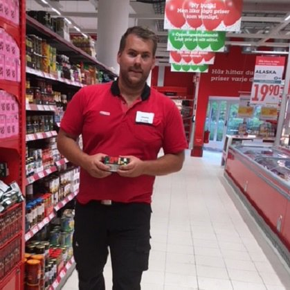 Jimmy Ericsson, butikschef Willys Hemma, Södra Förstadsgatan