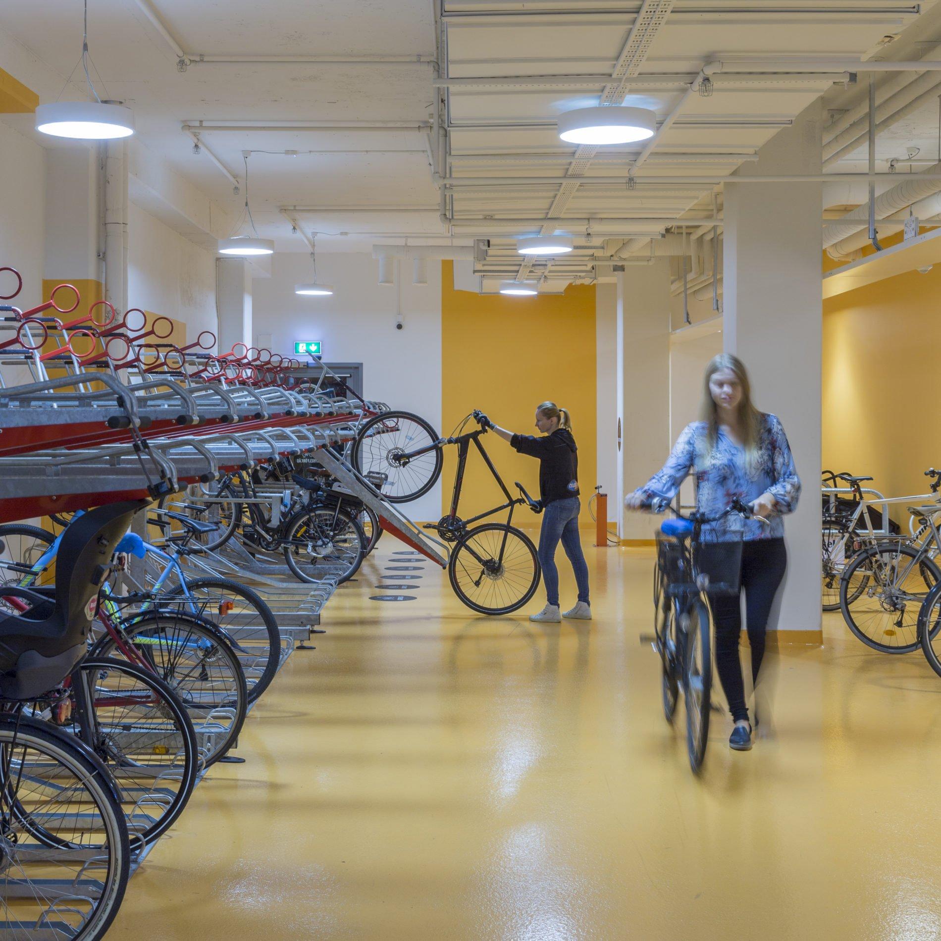 Cykelförvaring Cykel & service Klara Zenit